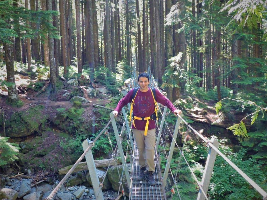 Norvan Creek Suspension bridge