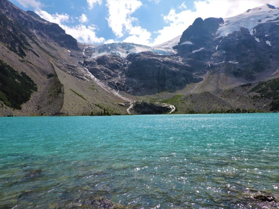 Upper Joffre lake and Glacier