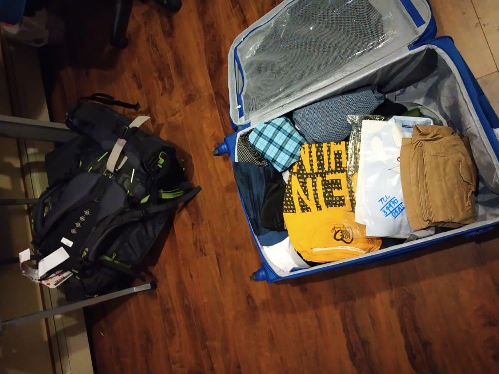 Baggage arrives