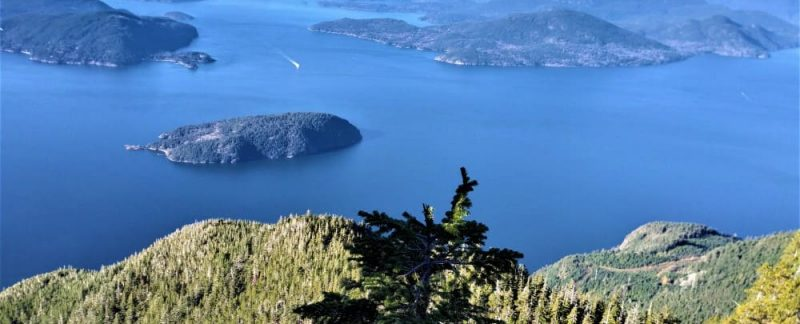 Howe sound from st. marks summit