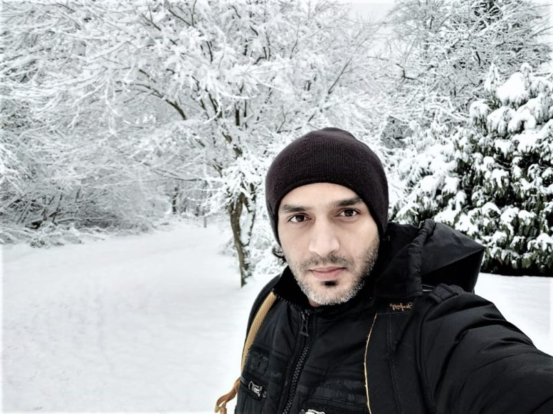 Amar in Canadian Winter