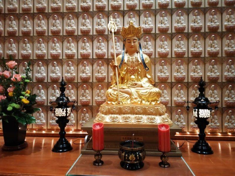 Another Buddha statue inside prayer hall