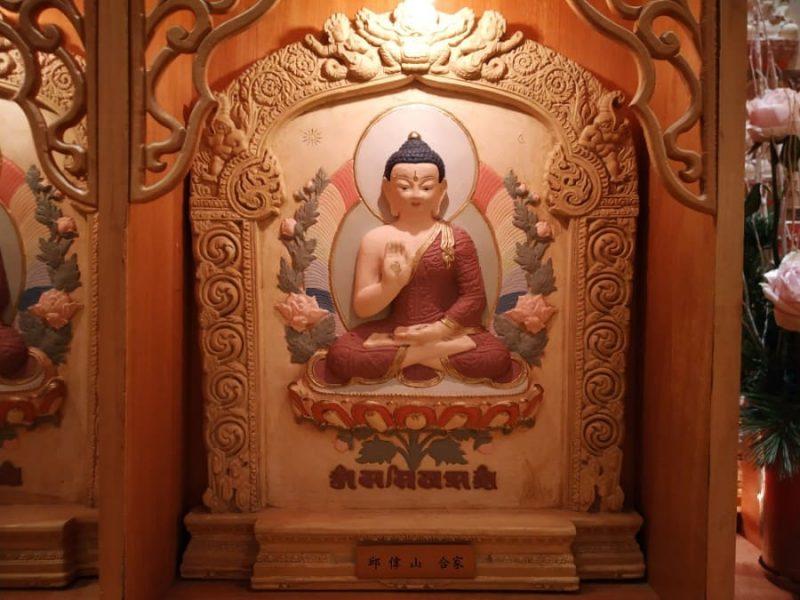 Buddha statue on the wall
