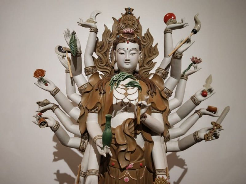 Buddha with 18 hands