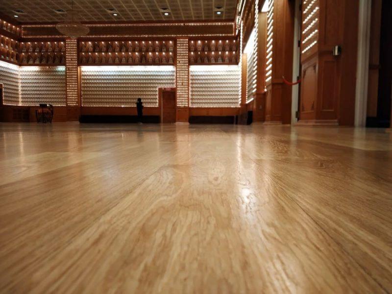 Inside prayer hall