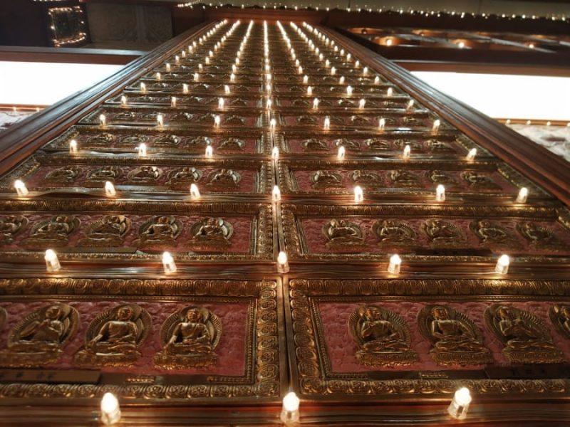 Lights inside prayer hall