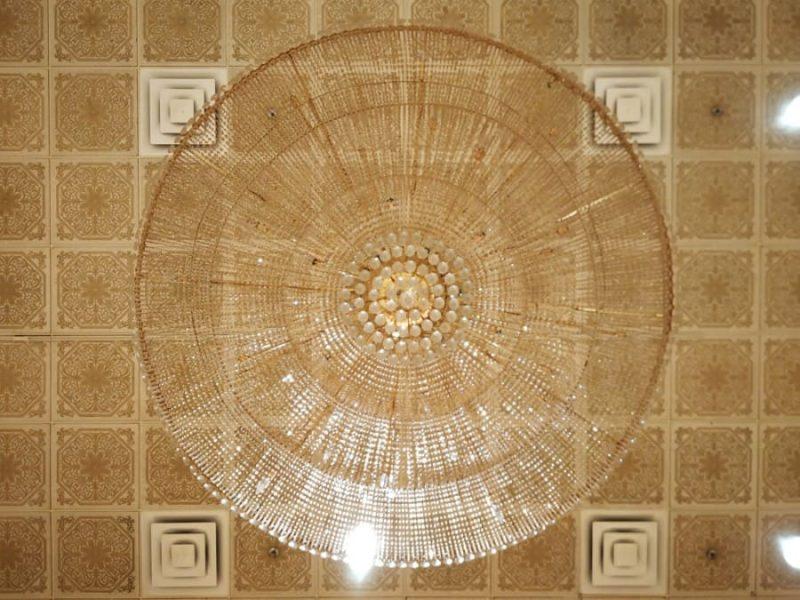 Prayer hall ceilings