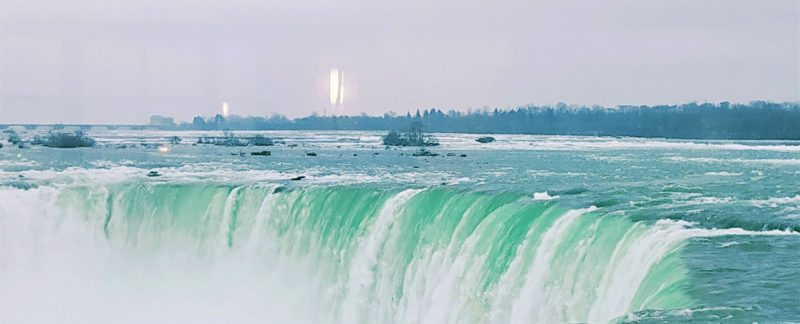 Niagara falls from table rock welcome center