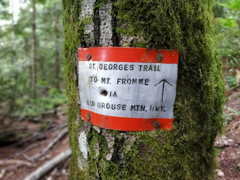 St georges trail mark
