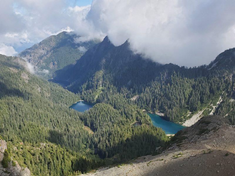 Deeks lake from Brunswick Mountain Peak
