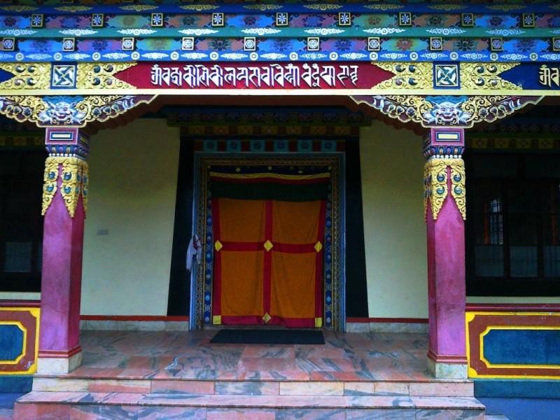 A beautiful door of the golden temple