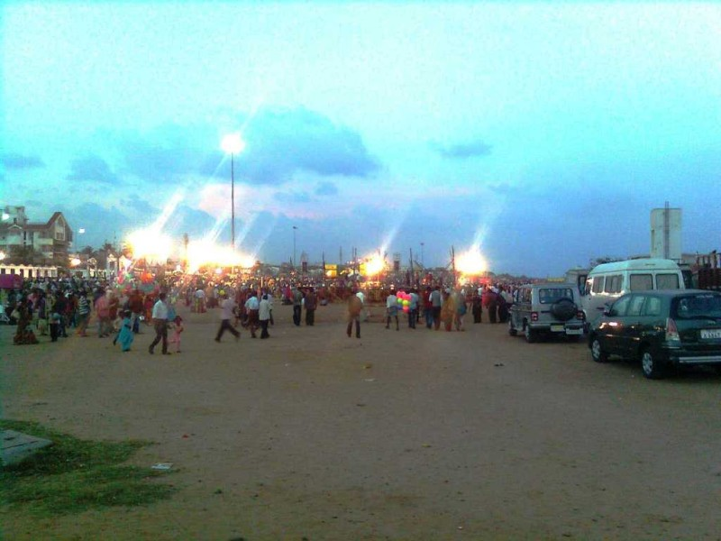 Besant nagar beach pongal celebration