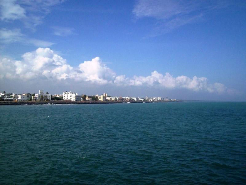 City of Pondicherry from Naval dockyard port