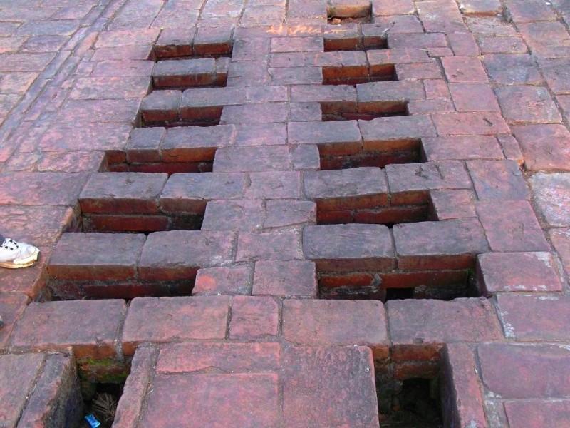 Cooking chulla or oven at Nalanda University