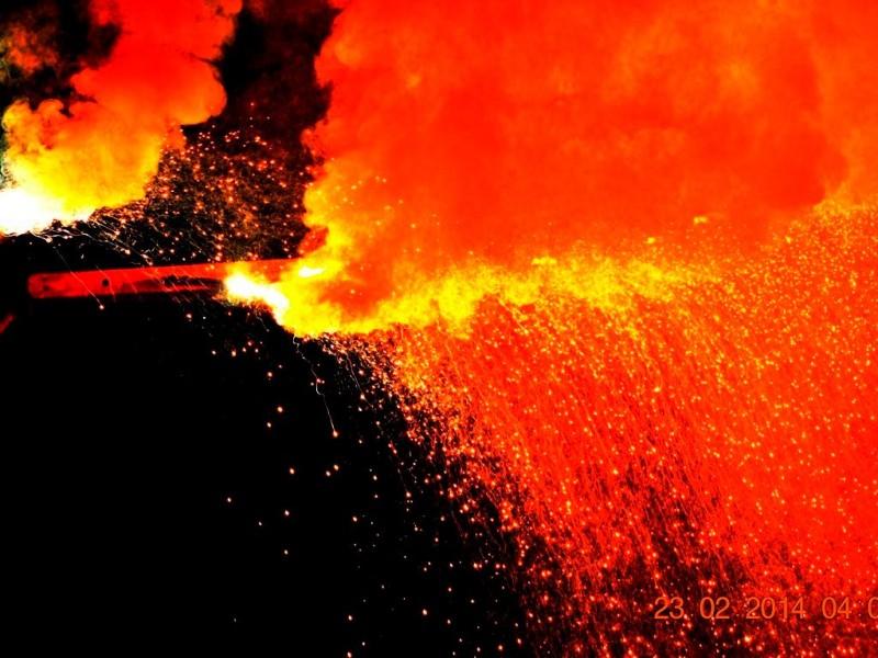 Firework-during-bhuta-kola