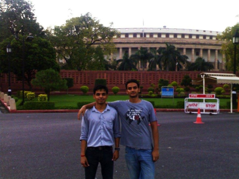 In front of the parliament