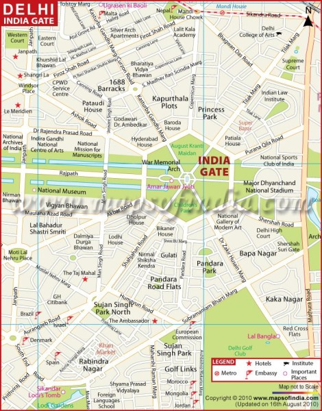 India gate road map