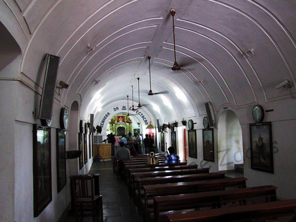 Inside St. thomas mount church