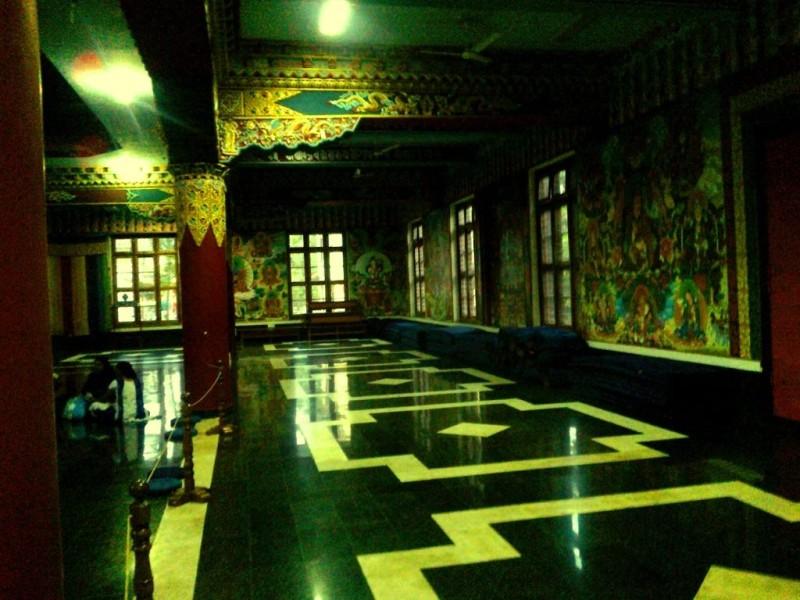 Inside the Golden temple, bylakuppe
