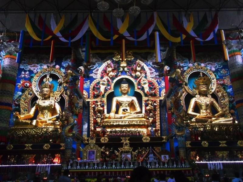 Inside the Monastery, 40 feet high statue of Lord Buddha
