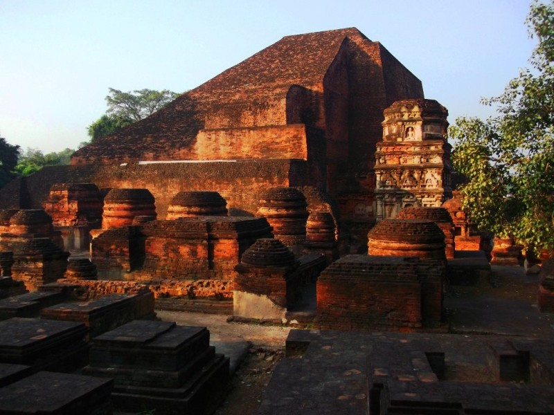 Library and stupas of Nalanda university