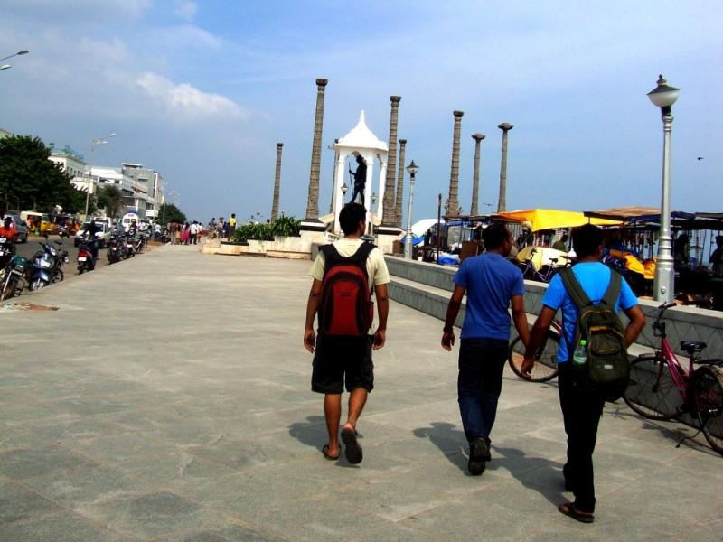 On Gandhi beach