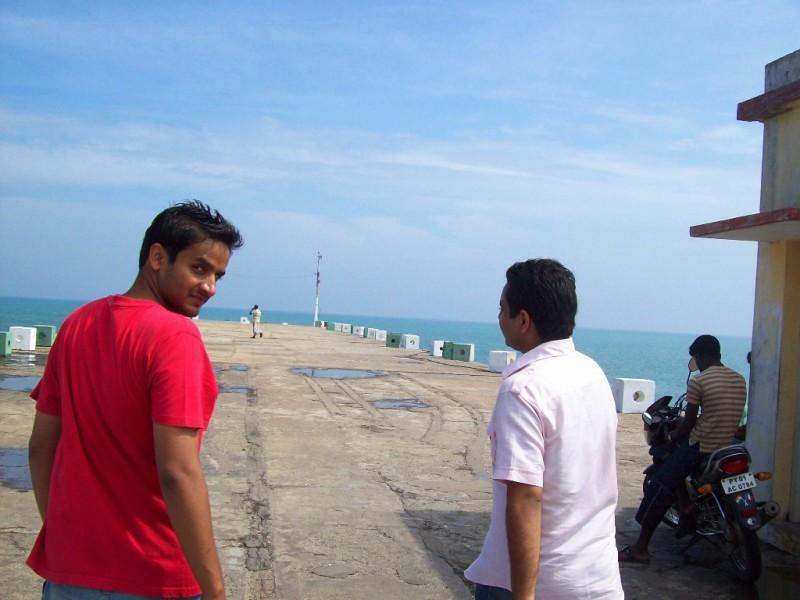 On Pondicherry harbour dock