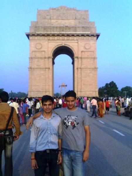 On Rajpath, India Gate