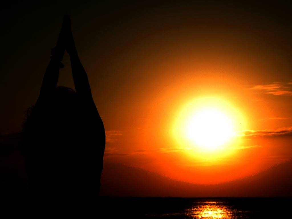 Praying to the sun