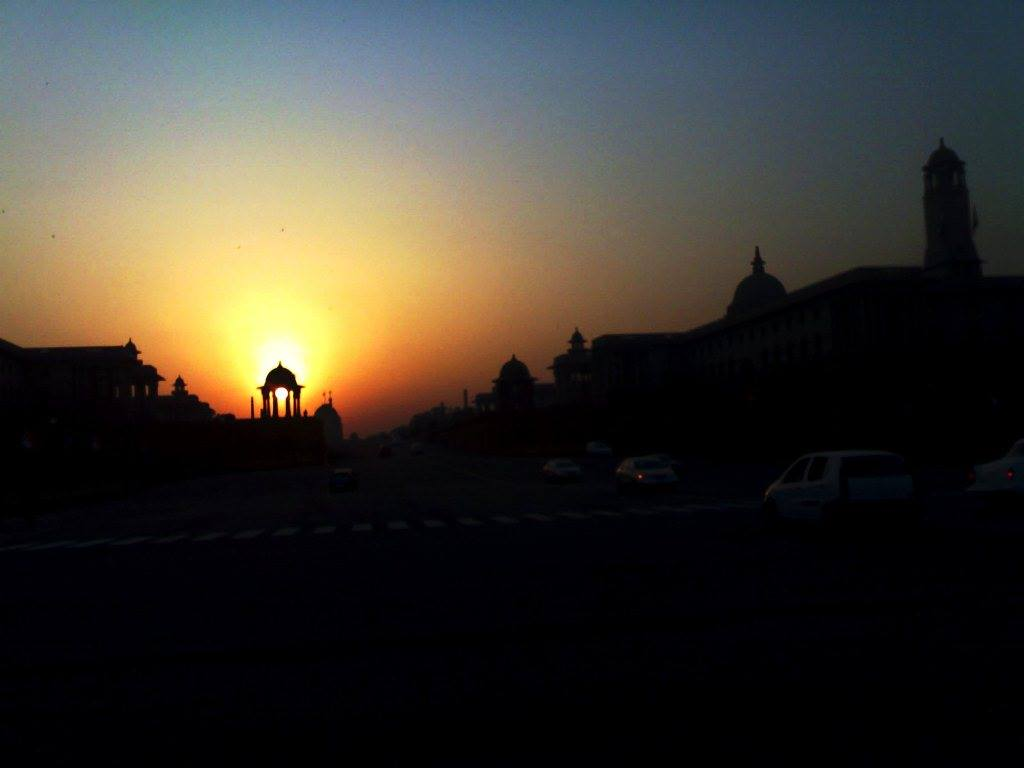 Rajpath at sunset