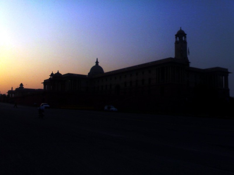 Rajpath in evening