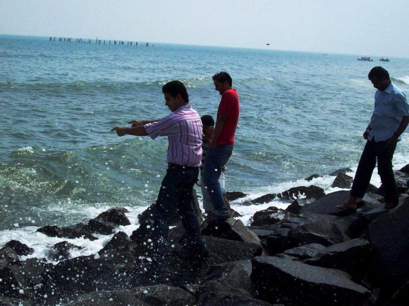 Rock beach at Pondicherry