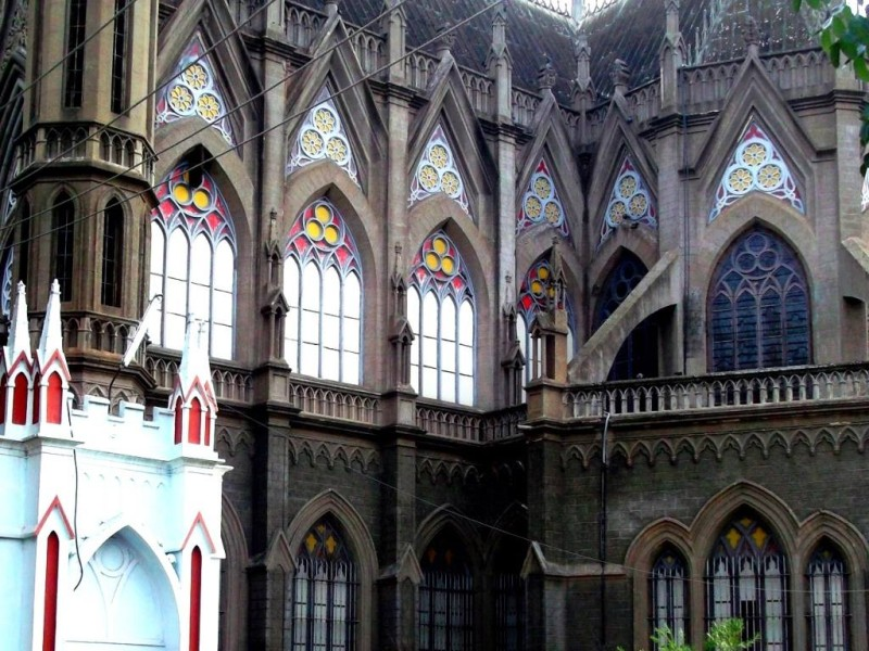 Saint Philomena church, neo-gothic architecture and painted glass