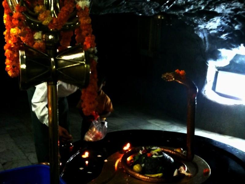 Tapkeshwar Mahadev inside the cave