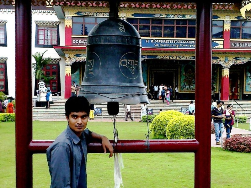 The bell at bylakuppe monastery