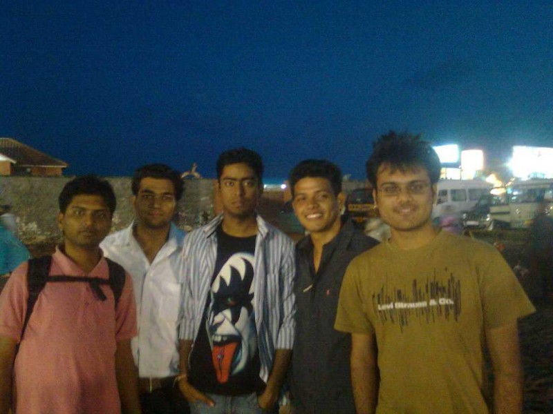 With friends on besant nagar beach