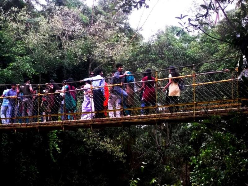 new hanging bridge at niargashama